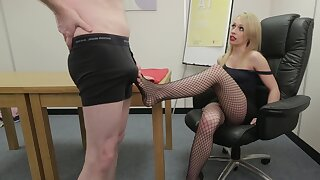 Sexy ass peaches acts dominant in scenes of office CFNM
