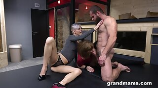 Older broads cannot get enough of a muscled, horny stud