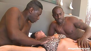 Black dudes give fuck a spliced in the bore and pussy for serious XXX