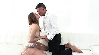 Sex on the sofa give plain anal XXX