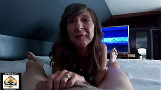 Tiny Mom Loves Sucking Obese Cock