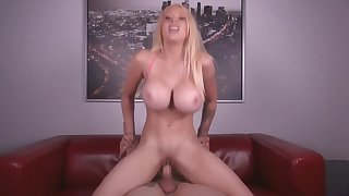 Her Big Tits Sensuously Bounce As She Rides That Cock