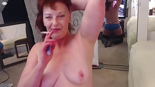 V171 Smoke, Dirty talk and gaggy sloppy blowjob