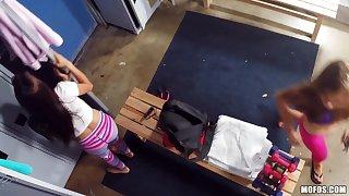 Kaylee Jewel & Michelle Martinez in Naughty Burglars Share a Dick - PervsOnPatrol