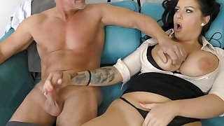 office milf gets laid with her senior boss