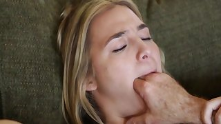 Blonde girl pussy fucked by step daddy in severe modes