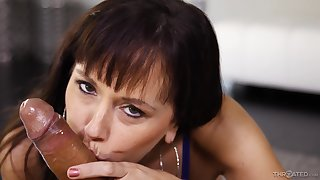 Awesome Blowjobs From Steamy Darkhaired - dark hair
