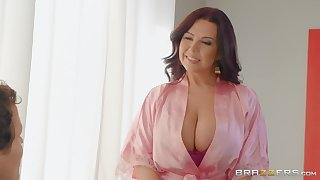 massive tits Sheridan Love makes immutable dick disappears in her pussy