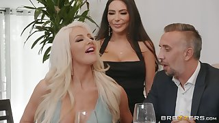 hot divas Lela Star added to Nicolette Shea share constant friend's penis