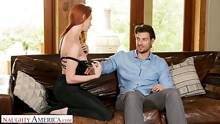 Hot like van ginger bitch Lacy Lennon gets into pants be useful to handsome neighbor