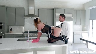 sexy shakedown Mia Lelani gets her pussy pounded by her boss