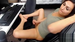 Mature shemale Michelle tiny small dick cum