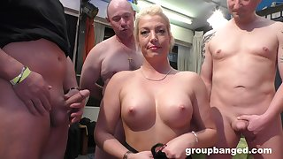 Gangbang relative to their way friends is something that light-complexioned lady remembers