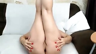 BBW Full-grown Dildoing Home Alone Masturbation