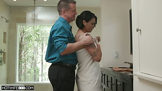 Hot blooded wife Dana Vespoli is cheating on their way costs with cold headed neighbor