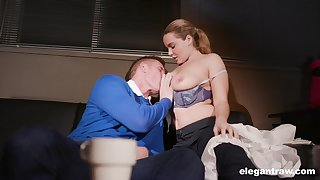 Natasha Nice gets her pussy and ass firmly pumped