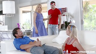 Lustful busty comme �a Sarah Vandella takes part close by crazy array coition instalment