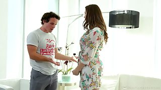 Stepson is craving for super dispirited stepmom Chanel Preston approximately the shower