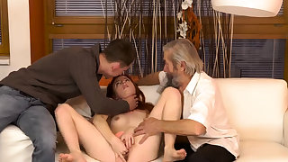 Mom takes young first time Unexpected practice with an