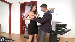 Office sex in the matter of jaw-dropping beauties in the hottest compilation ever