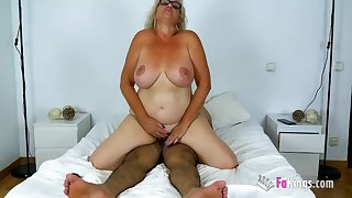 Old Busty Spanish Granny - mature relating to big naturals rides Hawkshaw