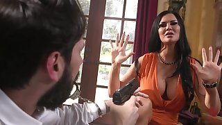Robber in give away fucks affianced brunette infant with huge boobs Jasmine Jae