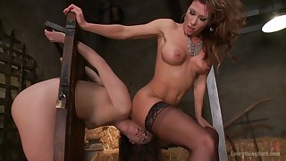 Blue-blooded lesbo porn of two column needy in preference to