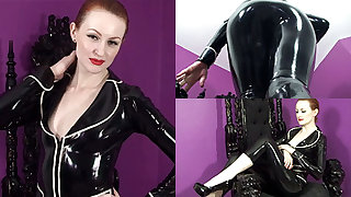Anita de Bauch in Black Parka and Capri Pants - LatexHeavenVideo
