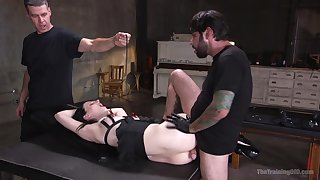 Submissive Alex Harper submits to arousing bondage fuck