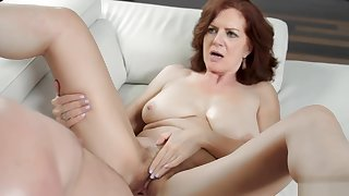 MILF Andis bushy pussy pounds in numerous ways