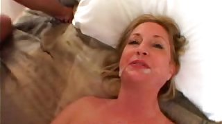 Amateur Mom takes a Big Black Cock less Amateur Interracial Videotape