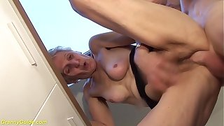 83 years old mummy brutal fucked by stepson