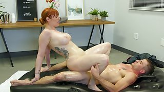 Red-haired MILF Lauren Phillips gives much regarding than a palpate