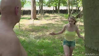Not at home fucking encircling the gin-mill woods in all directions amateur Lily-rose Ray