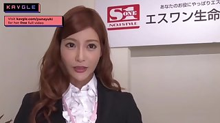 Arousing uncensored Japanese mommy office model making love her colleagues
